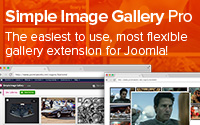 Simple Image Gallery Pro by JoomlaWorks - The easiest, fastest and most flexible way for embedding image galleries on your Joomla! site. Supports remote Flickr photo sets!